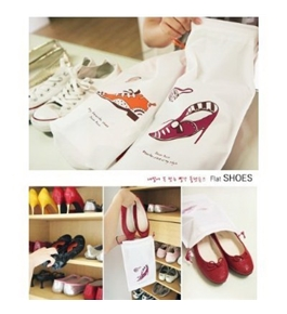 BDS - 2 Sets of Travel Shoe Bag for Shoe, Sandal, and Slipper + One Free BDS Ponytail Holder