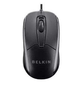 Belkin 3 Button Wired USB Optical Mouse for Desktop, Laptop, and Netbook (Mac or PC)