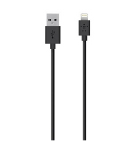 Belkin Lightning to USB ChargeSync Cable for iPhone, iPad, iPad mini, and iPod, 4 Feet (Black)