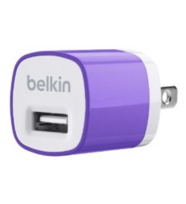Belkin MiXiT Home and Travel Wall Charger with USB Port - 1 AMP / 5 Watt (Purple)