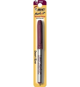 BIC Mark It - Color Collection Permanent Marker, Fine Point, Desert Rose, 1 Ct (GEPMP1MX - Desert Rose)