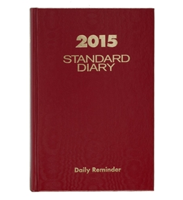 AT-A-GLANCE Standard Diary Daily Reminder 2015, 5 x 7.5 Inch Page Size, Red (SD387-13)