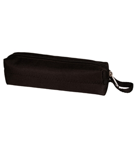 Black Nylon Zippered Pencil Case -Great Storage of Cosmetics, Pens, Tools and More!