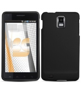 Black Rubberized Protector Hard Case for Samsung Infuse 4G