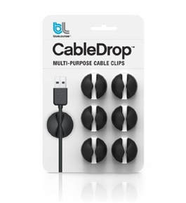 Blue Lounge Design CD-BL CableDrop Cable Management System for All Cables up to 5/16-Inch - Black