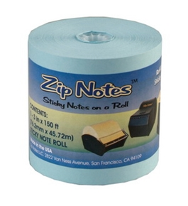 Blue Zip Notes Refill Roll