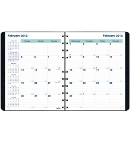 Blueline 2012 MiracleBind Monthly Planner, 17 months (Aug-Dec), Black, 11 x 9.0625-Inches (CF1512.81T)