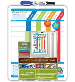 Board Dudes Magnetic Dry Erase Rewards Chore Chart with Marker and Magnets (11020WA-4)