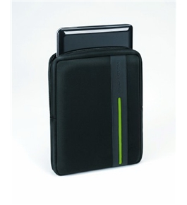 "Body Glove Stride Vertical Netbook Sleeve, Fits up to 10.2"" Screens, Black/Lime Green (9506401)"