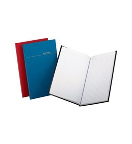 Boorum & Pease 96334 Record/account book, record rule, vinyl assorted covers, 12-1/8x7-1/2, 150 pgs