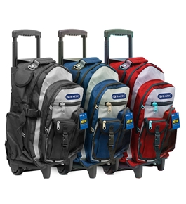 BAZIC 18 Two-Tone Rolling Backpack