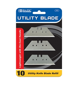BAZIC Utility Knife Replacement Blade (10/Pack)