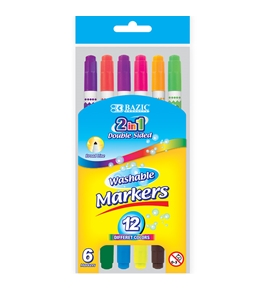BAZIC 6 Double-Tip Washable Markers