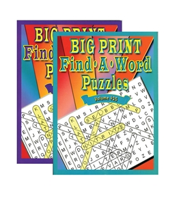 Big Print Find-A-Word Puzzles Book