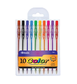 BAZIC 10 Retractable Color Pen