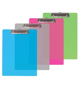 BAZIC Standard Size Plastic Clipboard with Low Profile Clip