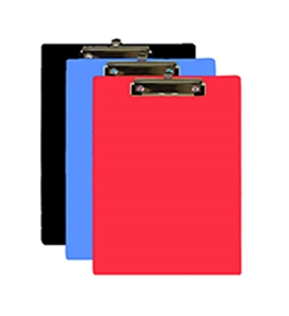 BAZIC Assorted Color Standard Size Hardboard Clipboard with Low Profile Clip
