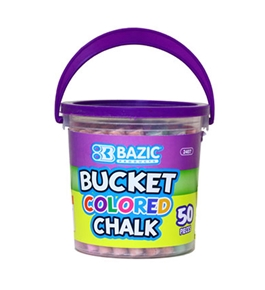 BAZIC Assorted Color Chalk (50/Bucket)
