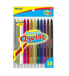 BAZIC 12 Color Propelling Crayon