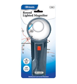 BAZIC 2.5 Round 3x Lighted Magnifier