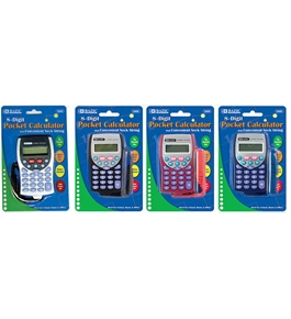 BAZIC 8-Digit Pocket Size Calculator with Neck String