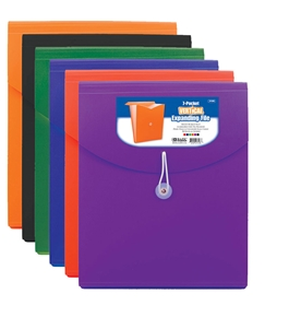 BAZIC 7-Pocket Letter Size Vertical Poly Expanding File