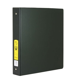 BAZIC 1.5 Black 3-Ring Binder with 2-Pockets