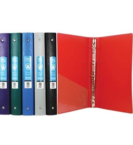 BAZIC 1 Matte Color Poly 3-Ring Binder with Pocket
