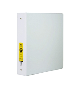 BAZIC 1 White 3-Ring Binder with 2-Pockets
