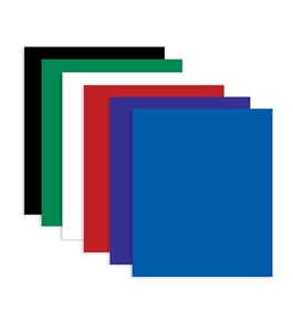 BAZIC Solid Color 2-Pockets Poly Portfolio
