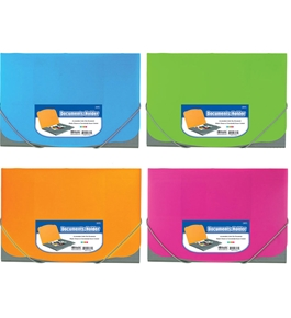 BAZIC Two Tone Letter Size Document Holder with Elastic Band