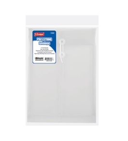BAZIC Clear Top / Side Loading Letter Size String Envelope (2/Pack)