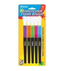 BAZIC Jumbo Watercolor Paint Brush (5/Pack)