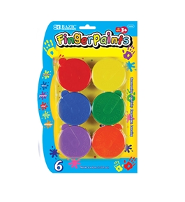 BAZIC Assorted Color 40 ml. Finger Paint (6/Pack)