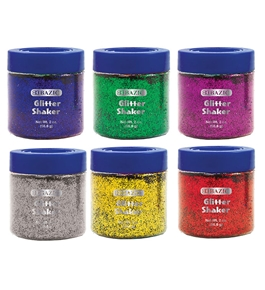 BAZIC 56.6g / 2 Oz. Primary Color Glitter Shaker with PDQ