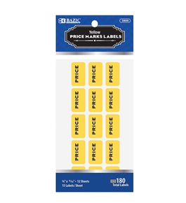 BAZIC Yellow Price Mark Label (180/Pack)