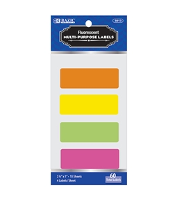 BAZIC 2 3/4 X 1 Fluorescent Multipurpose Label (60/Pack)