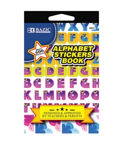 BAZIC Alphabet Sticker Book