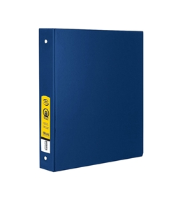 BAZIC 1 Blue 3-Ring Binder with 2-Pockets