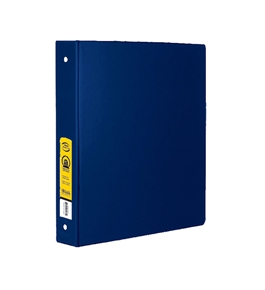 BAZIC 1.5 Blue 3-Ring Binder with 2-Pockets
