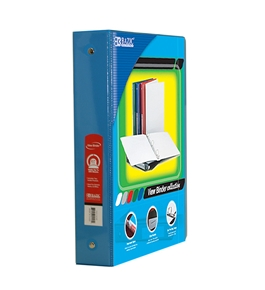 BAZIC 1.5 Cyan 3-Ring View Binder with 2-Pockets
