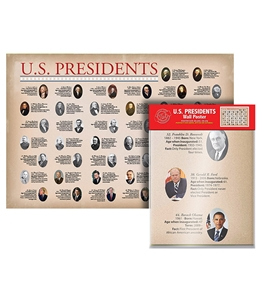 Folded U.S. Presidents Wall Map