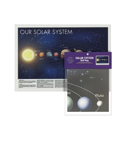 Folded Solar System Wall Map
