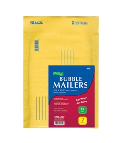 BAZIC 9.5 X 13.5 (#4) Self-Seal Bubble Mailers (2/Pack)