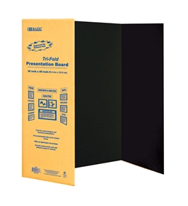 BAZIC 36 X 48 Black Tri-Fold Corrugated Presentation Board