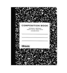 BAZIC C/R 100 Ct. Black Marble Composition Book