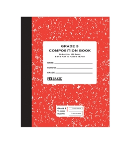BAZIC 50 Ct. Grade 3 Primary Composition Book