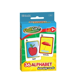 BAZIC Alphabet Preschool Flash Cards (36/Pack)
