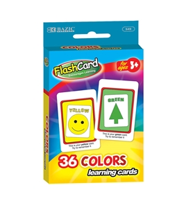 BAZIC Colors Preschool Flash Cards (36/Pack)
