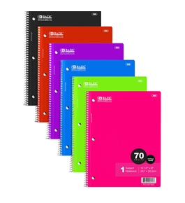 BAZIC C/R 70 Ct. 1-Subject Spiral Notebook